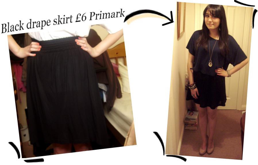 DIY #1 Primark Skirt to Summer Skater Skirt