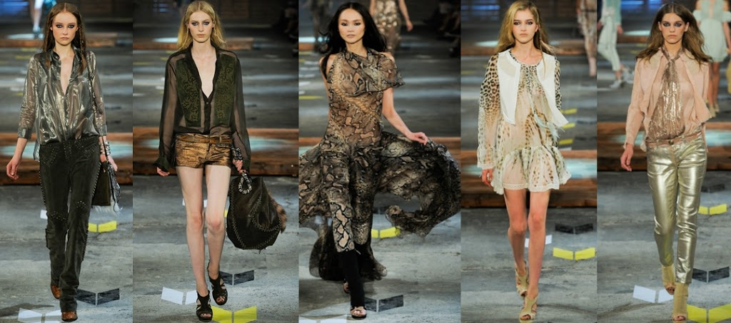 Wear the runway trend now | Rock n Roll style at Just Cavalli S/S12