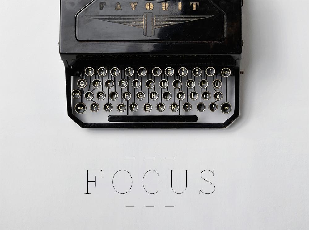 2016 Goals: Focus