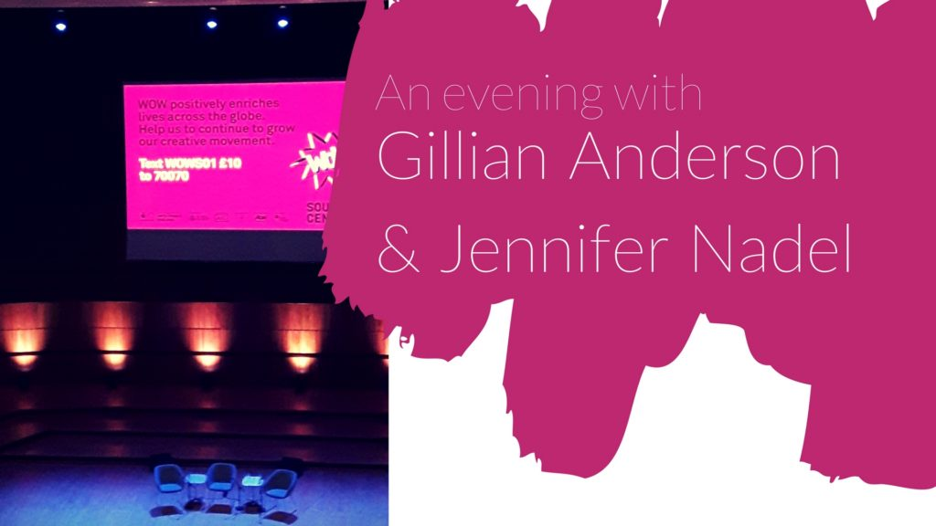 'We': An evening with Gillian Anderson & Jennifer Nadel | Highlights