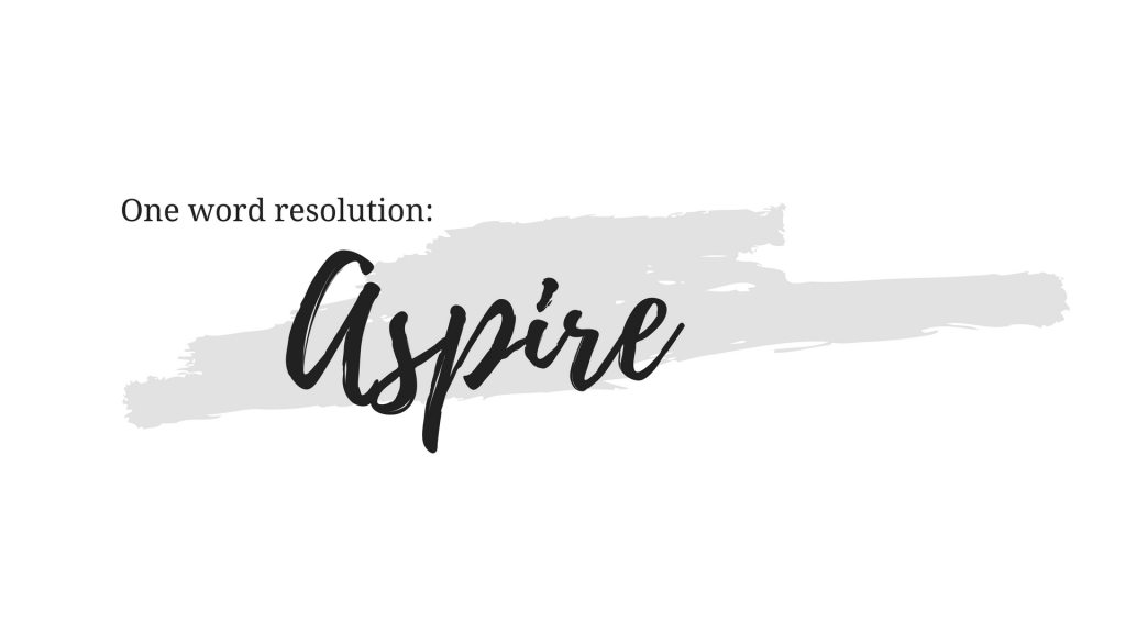 One Word Resolution | Aspire